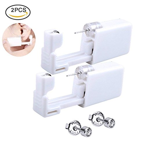 Ear Piercing Kit Disposable Sterile Ear Piercing Kit Tool Stud Safety Portable DIY 2 Pack