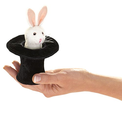 Folkmanis Mini Rabbit in Hat Finger Puppet -