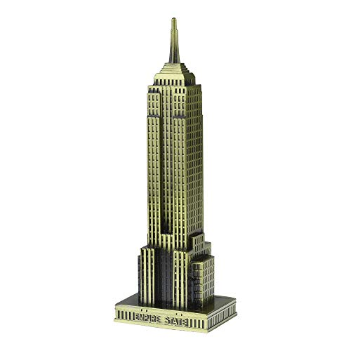 KLOUD City Vintage Bronze 7 Inch New York Statue of Empire State Building Model Statue Collectible Figurine Home Desktop Décor, Replica, Collectible Artificial World Famous Buildings Sculpture