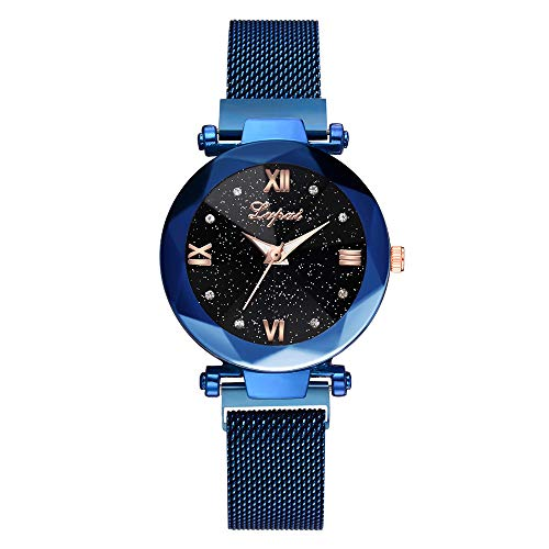 Women's Watch Starry Sky Stainless Steel Mesh Belt Watch Quartz Analog Watches Fashion ()