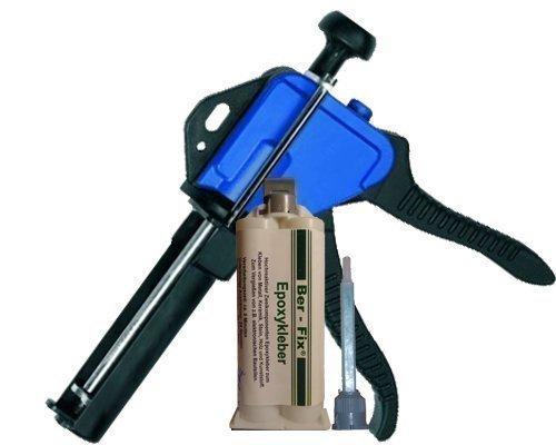 BER-Fix Epoxy con pistola y 10 Mixtü llen 5 Min de cristal y metal FoxFix®