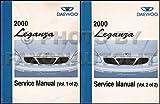 2000 Daewoo Leganza Repair Shop Manual Original 2 Volume Set