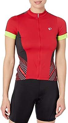 Size Medium Pearl Izumi Women/'s Black//Crimson Stripe Elite Pursuit SS Jersey