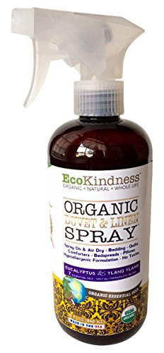 EcoKindness Organic Economy Refill Honeycomb Eloquent Gardenia Duvet and Linen Spray, 9 Count (Pack of 9) by EcoKindness