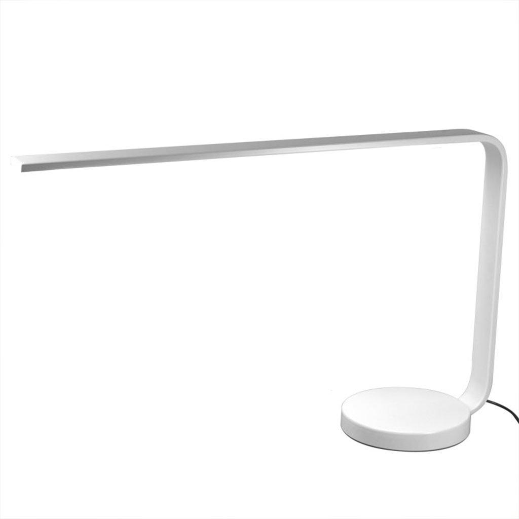 &die Tischleuchte LED-Schreibtischlampe, Berührungssensor, Augenpflege-Schreibtischlampe, stufenloses Dimmen Büro, Hauslesung, Studie, Arbeit ( Farbe   Weiß )