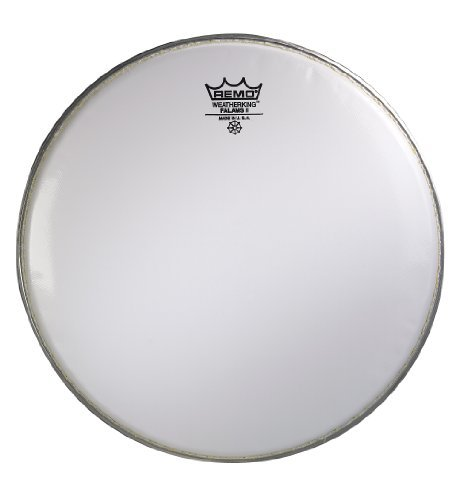 Remo KS0214-00 Smooth White Falams II Marching Snare Batter Drum Head (14-Inch) by Remo