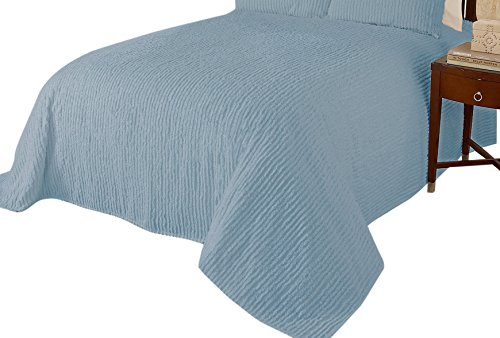 Beatrice Home Fashions Channel Chenille Bedspread, Full, ...