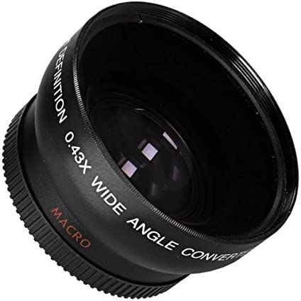 Wide Angle .43x Conversion Lens with Macro Close-Up Attachment For Sony Alpha a6500 a6000 40.5mm J3 J1 S1 S2 NIkon 1 AW1 a5000 V2 V3 Mirrorless Digital Camera a5100 J2 V1 J5 J4 a6300