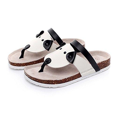Couleur UK3 taille Sandals Cork Pinch 5 d'été CN36 2 EU36 Beach Cartoon 3 Femme Sandales PqWfH0Aa