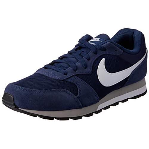 chollos oferta descuentos barato Nike Md Runner 2 Zapatillas de correr para Hombre Azul Marino Azul Marino Blanco Gris 48 1 2 EU