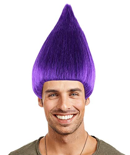 (Troll Wig, Purple Adult)