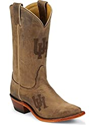 Nocona LDUH11 Womens University of Houston Brown Cowhide Branded College Boots