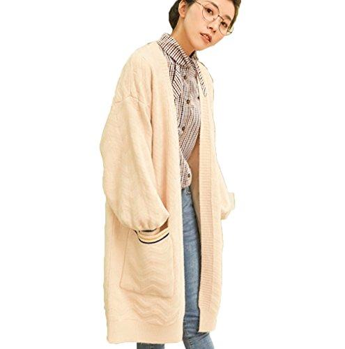 [もうほうきょう] ニットカーディガン レディース 新型コート 清新 ゆったり 着やせ 森係 上着 女性コート カジュアル 無地 春秋