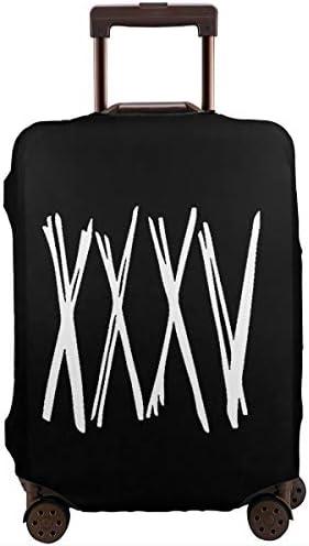 スーツケースカバー キャリーカバー XXXV ワンオクロック ラゲッジカバー トランクカバー 伸縮素材 かわいい 洗える トラベルダストカバー 荷物カバー 保護カバー 旅行 おしゃれ S M L XL 傷防止 防塵カバー 1枚