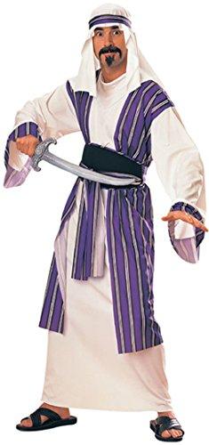 Adult Sheik Arab Costumes (Adult Desert Prince Costume Sheik Sultan Arab King Standard up to 42 inch)