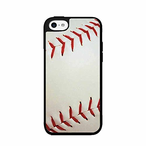 BleuReign Red and White Detailed Baseball Stitching TPU RUBB