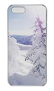 iPhone 5 5S Case landscapes nature snow 36 PC Custom iPhone 5 5S Case Cover Transparent