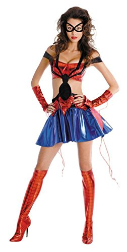 Disguise Womens Spidergirl Sassy Prestige Marvel Halloween Party Fancy Costume, Large (12-14)