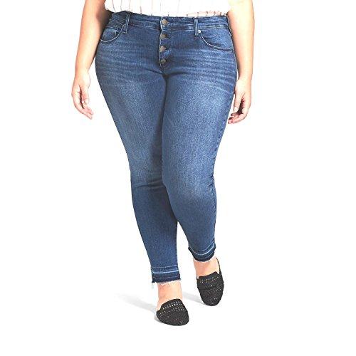 AVA & VIV Mujer Plus Skinny Entubado Pantalones, (Azul Oscuro, 14W)
