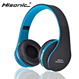 Hisonic HS8252 Foldable Noise Cancelling Wireless Stereo Bluetooth Headphones with Microphone (Blue and Black)