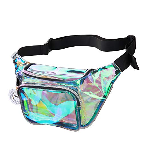 de3cbcd75187 Shiny Neon Fanny Bag for Women Rave Festival Hologram Bum Travel ...