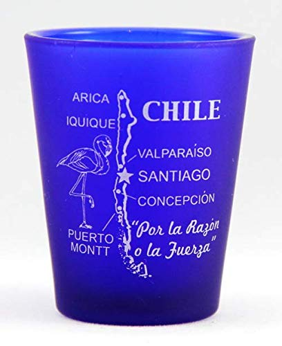 Chile Cobalt Blue Frosted Shot Glass World By Shotglass chilecb