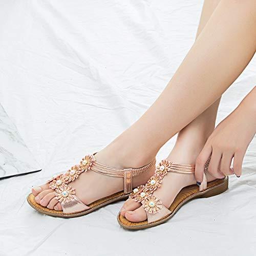 women's Saihui Rosa Sandali Donna Shoes zqqdwaB