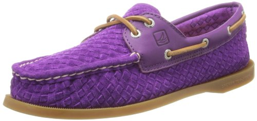 Sperry Top-sider Femmes A / O Chaussure Bateau Tissé Violet