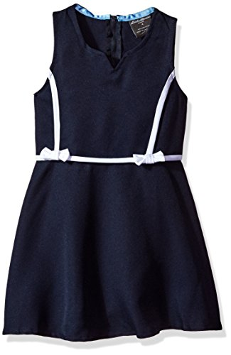 Eddie Bauer Big Girls' Dress or Jumper (More Styles Available), Poly Navy-AGHH, 8