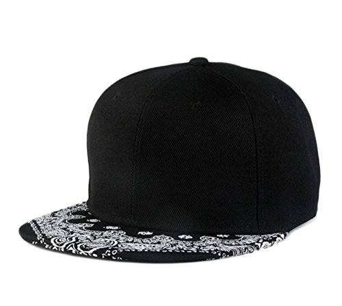 So'each Unisex Hip Hop Paisley Printed Flat Bill Visor Snapback Cap Baseball Hat
