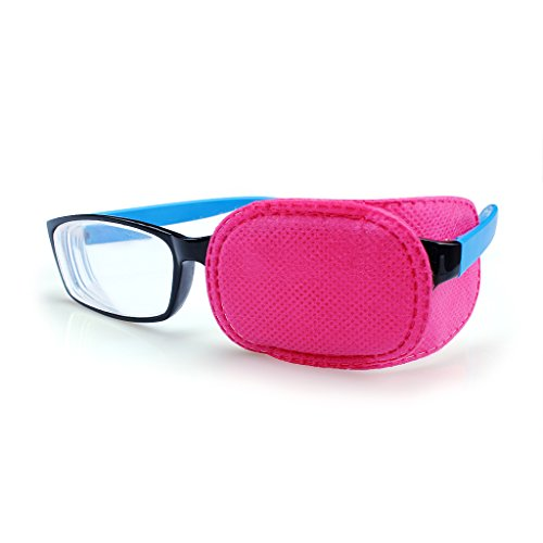 Ewinever(R) 6PCS Amblyopia Eye Patch For Glasses,Treat Lazy Eye and Strabismus for kids,No irritation to children's skin! (Pink)