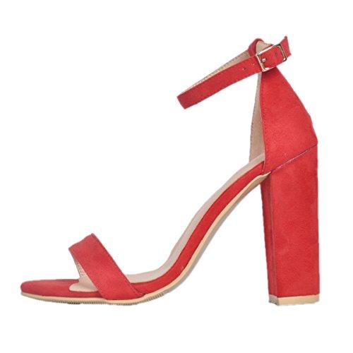 Color Talla de EU Zapatilla Rojo Sintético 41 Kolnoo Alta Mujer Material qOBxPY4w1