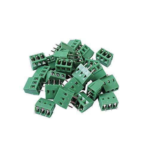 Teenitor Top Quality 25 Pcs 3 Pin 5.08mm Pitch PCB Mount Screw Terminal Block AC 250V 8A