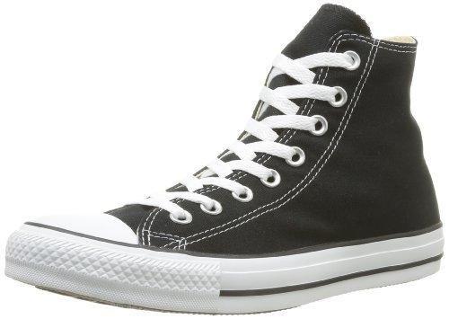 Converse Unisex Chuck Taylor All Star High Top Sneakers Black/White US Men's 8 D(M) / US Women's size 10 B(M) -