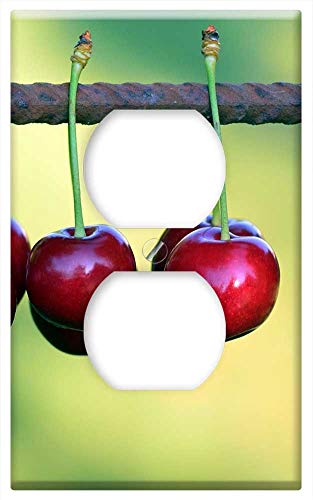 Switch Plate Outlet Cover - Cherries Fruits Fruit Red Sweet Cherry Nature 2