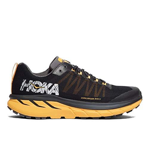 HOKA ONE ONE Men's Challenger ATR 4 Trail Running Shoe Black/Kumquat Size 9 M US