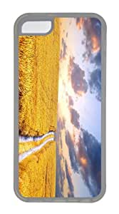 for cheap cover cornfield summer hd TPU Transparent Case for iphone 5C