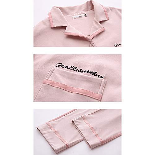 Mujer Pantalones Size 1 color Manga Algodón 1 Para De Pijamas Xl Sólido Casa Larga Traje Color Ropa En Pijama zAqBW1Yw