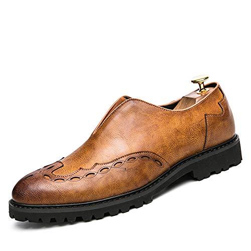 Stampe Oxford Business Color vivere shoes Scarpe Giallo EU moda comode classiche da 2018 uomo 41 di inglesi camminare Scarpe Per Dimensione compagnia Jiuyue e Brogue Uomo Pelle Grigio casa xgqXEYwE