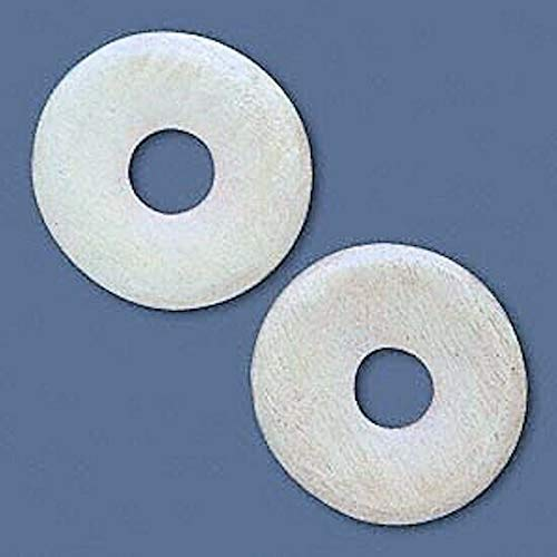 2 Large Natural White Wood Donut Disc Charm Hoops / 52-55mm Crafting Chain Bracelet Necklace Jewelry Accessories Pendants