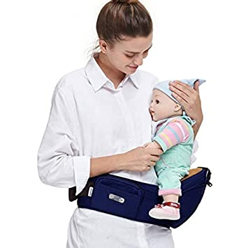 Baby Toddler Hip Seat Carrier, Convenient Infant Waist Belt Stool Front Carrier Blue