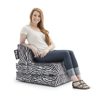 414KFF9bjfL - Big-Joe-Flip-Lounger-bean-bag-game-chair-sleeper-bed-dorm-gaming-fold-down-NEW-Black