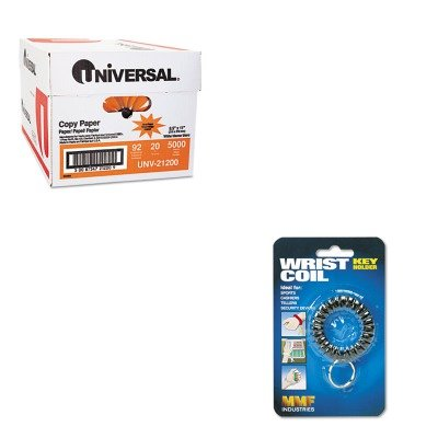 (KITMMF201450004UNV21200 - Value Kit - MMF Flexible Wrist Coil Key Ring (MMF201450004) and Universal Copy Paper (UNV21200))