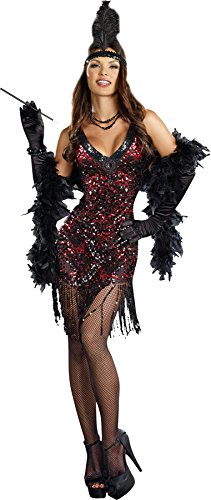 GTH Women's Sexy Dames Like Us 1920'S Adults Theme Party Halloween Costume, S (Dame Adult Wig)
