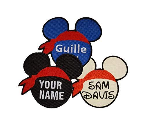 Emporium Bordado Mickey Personalizado Nombre Bordado Parches Coser Hierro en Etiqueta Etiqueta Sombrero Vaqueros Club [Color Personalizado, ...