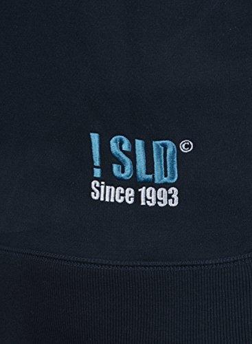 solid 1991 Hoodie Al Para Con Tacto Sudadera Benn Hombre Blue Chaqueta Capucha Cremallera Suave Insignia Forro Polar aqXa7r