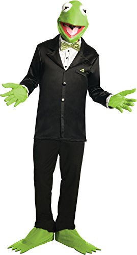 Muppets Kermit The Frog Costume And Mask, Green, (Animal Muppets Mask)
