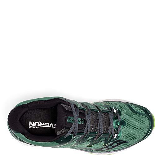 Saucony Men's Triumph ISO 4 Running Shoe, Green/Black, 11 Medium US