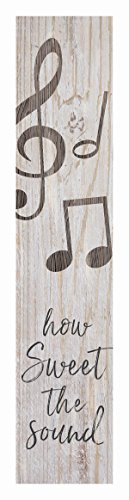 P. Graham Dunn How Sweet Sound Music Notes Rustic 1.5 x 7.5 Inch Wood Vertical Tabletop Block Sign