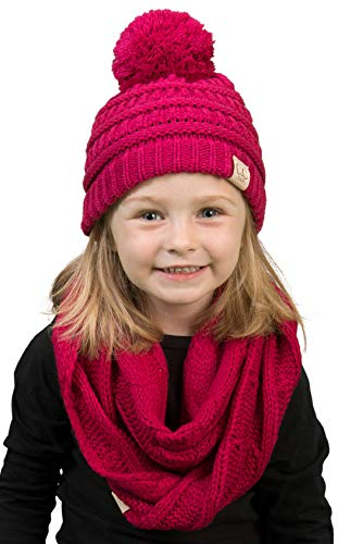 ie & Scarf Bundle (POM) - Hot Pink ()